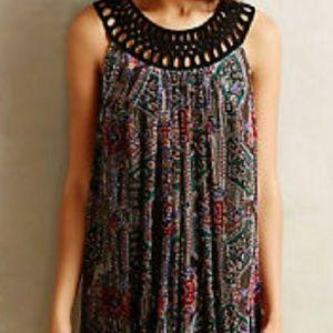 NWT Anthropology gorgeous burnout velvet dress